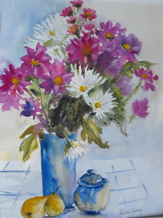 Still life with Chrysanthemums ©