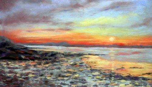 Sunset on Strangford Lough