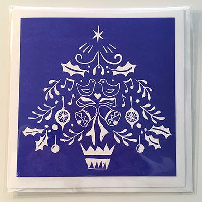 Blue decorative tree
