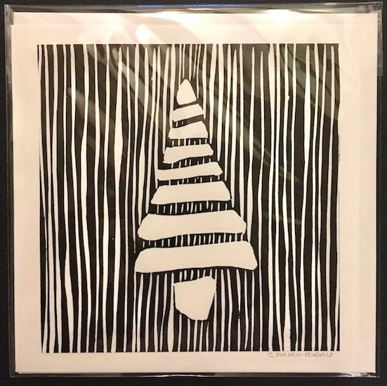 Black tree with stripes