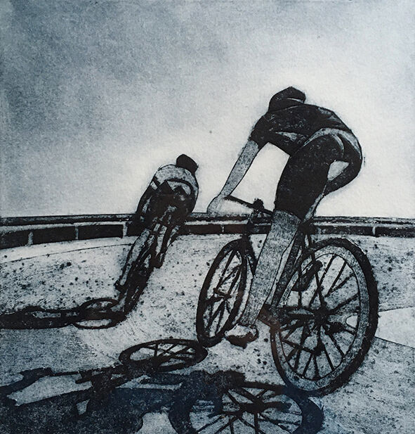 The descent, collagraph print, 18x18cm, £65 unframed (edition of 15)