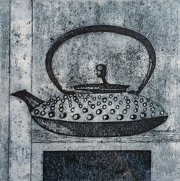 Time for tea, collagraph print, 15.5x15.5cm, £65 unframed (variable edition of 5)