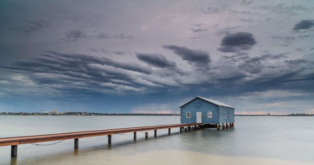 Early Morning Dawn Perth Boat house