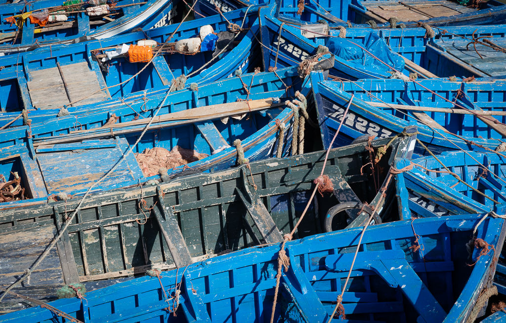 Fishing boats Essaouira