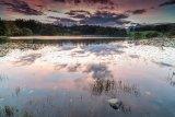 Loughrigg Tarn sunset reflections