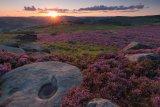 Summer sunset, Over Owler Tor, Derbyshire