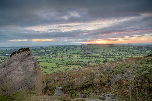 Sunset from the Roaches