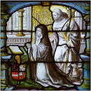 Abbess and St Bernard
