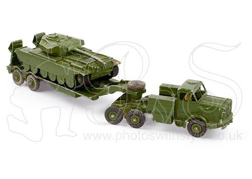 Dinky Supertoys tank transporter & Centurion tank