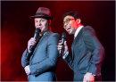 Roman Marek as Frank Sinatra and Jim Whitley as Sammy Davis Jr.