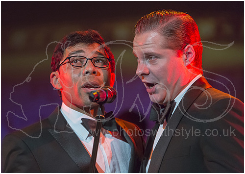 Jim Whitley as Sammy Davis Jr. and Roman Marek as Frank Sinatra