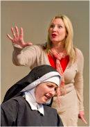 Claire Malcomson as Dr Martha Livingtone and Jessica Holloway as Sister Agnes
