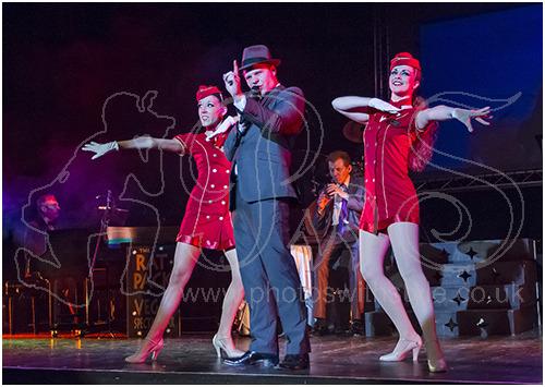 Roman Marek as Frank Sinatra with Vegas Showgirls