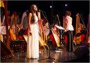 Faryl Smith with the International Harp Ensemble