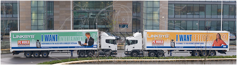 Linksys / PC World lorries