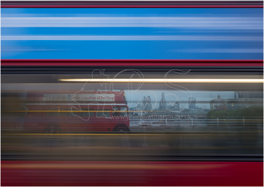 Bus through Bus in London