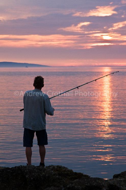 Sunset angler