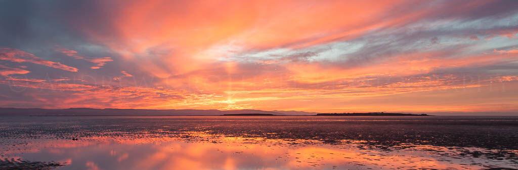 sunset over the Dee estuary