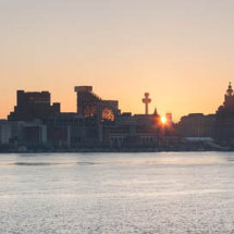 Liverpool waterfront dawn