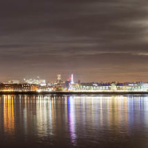 Liverpool full moon panorama