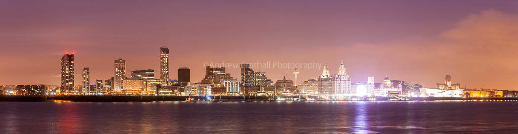 Liverpool twilight panorama