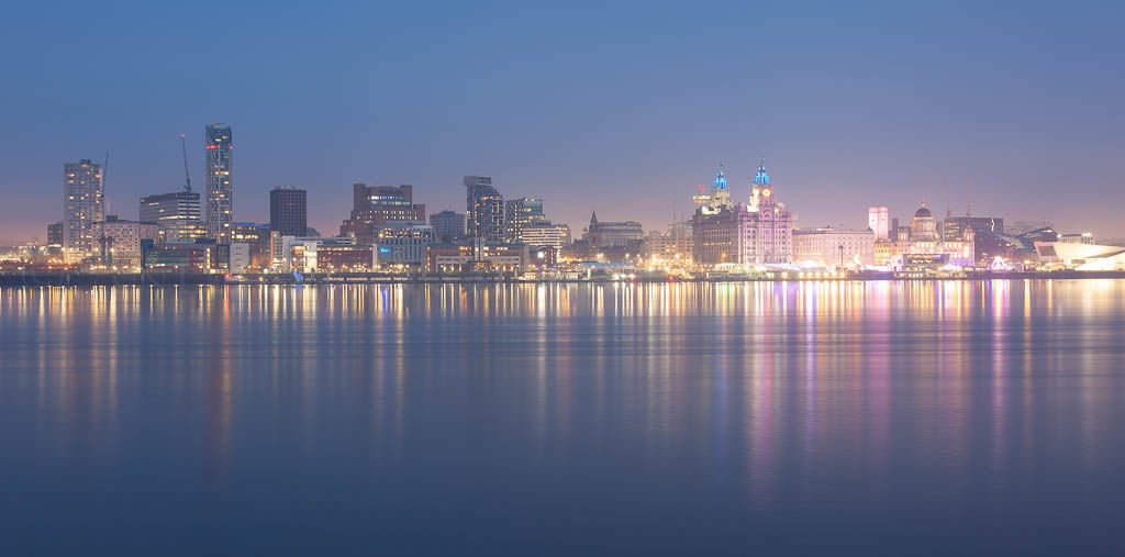 Liverpool twilight waterfront