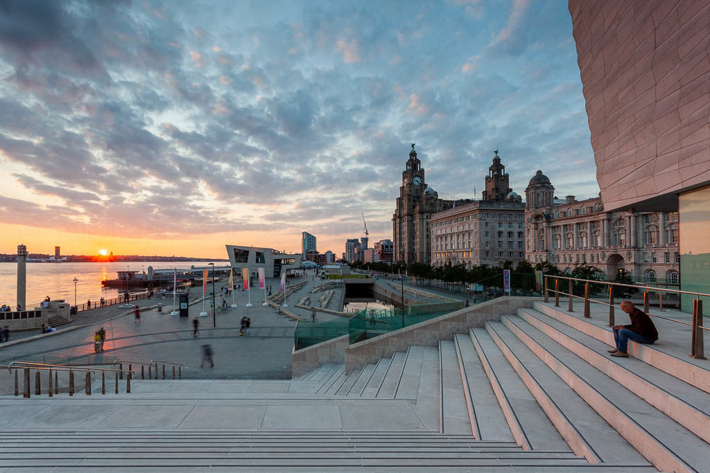 The Pier Head from Liverpool museum