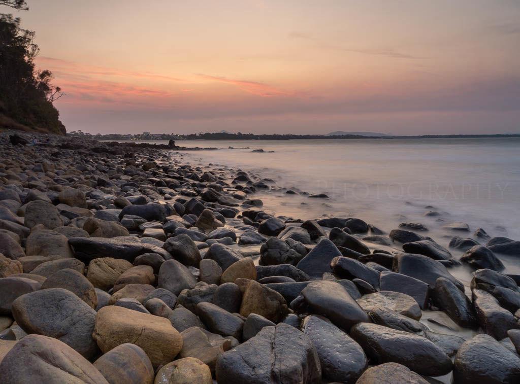 twilight at Noosa shore