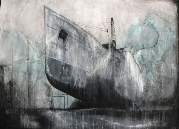 Adam Kennedy, Clyde Beginnings, 121X89cm, Oil and watercolour on paper
