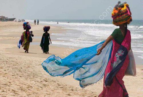Cloth Sellers by the Ocean