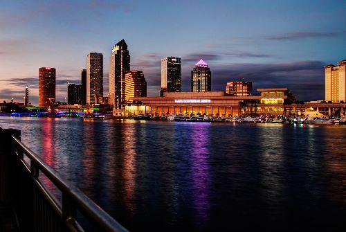 Evening skyline Tampa, Florida