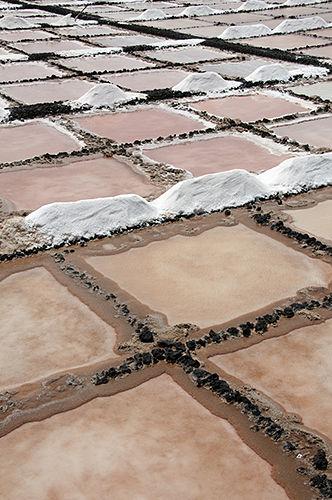Working salt-pan in Lanzarote, Canary Islands