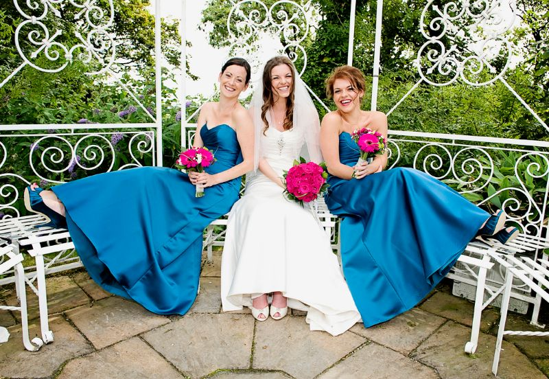 Beautiful Bride and Bridesmaids at Broadway Country House, Laugharne