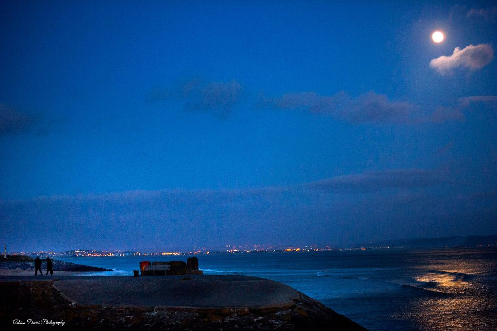 Burryport Harbour at night