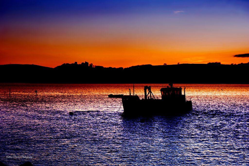 Ferryside Beach fishing boat
