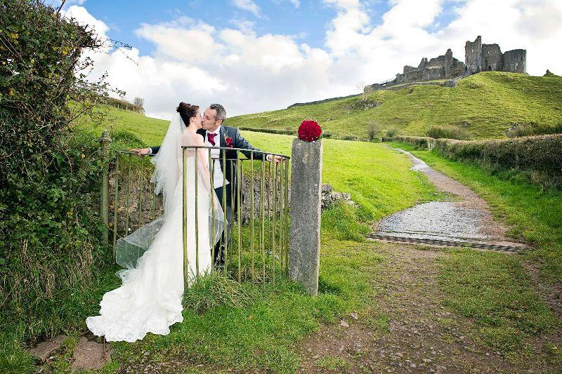 Beautiful Carreg Cennen Castle Wedding