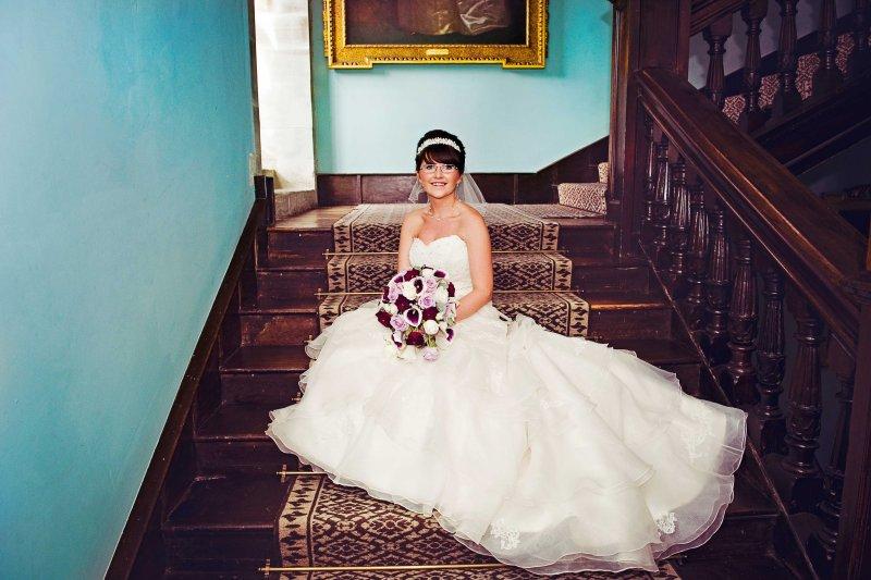 Beautiful bride at Newton House, Dinefwr Park, Llandeilo