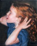Study of girl with red hair