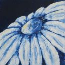 Blue flower, oil on canvas 405mm x 405mm