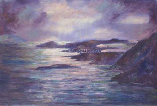 Elafiti Islands, Croatia, oil on canvas 915mm x 610 mm