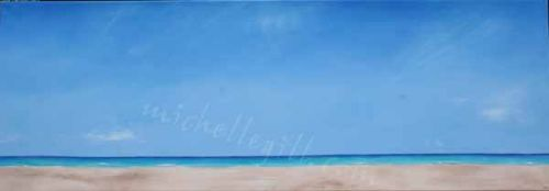 Barra beach, oil on canvas 1320mm x 460mm