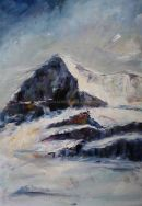 Eiger I, oil on canvas, 610mm x 455mm