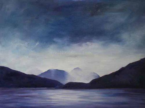 Ferry Crossing, Oil on canvas board 406mm x 305mm