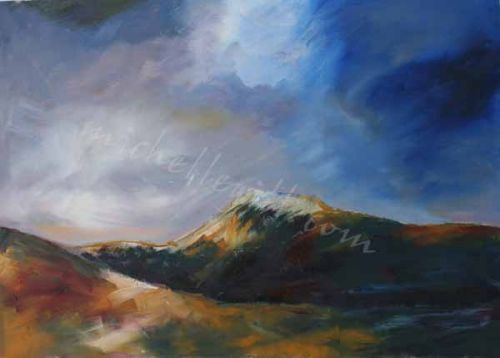 Ingleborough, oil on canvas, 700mm x 500mm ( Prints available)