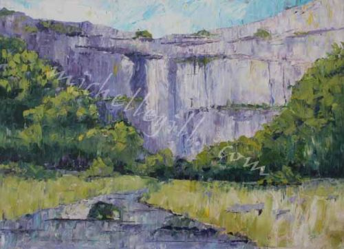 Malham Cove, oil on canvas 700mm x 500mm (Prints available)