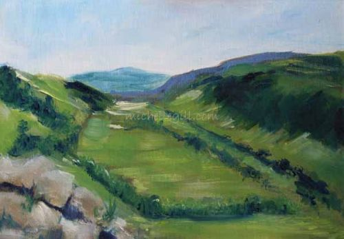 Wensleydale I, oil on canvas board 297mm x 210mm