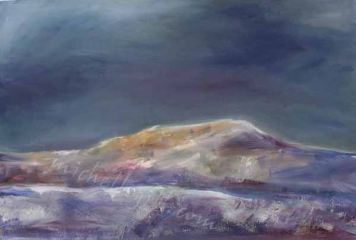 Whernside, oil on board, 760mm x 505mm