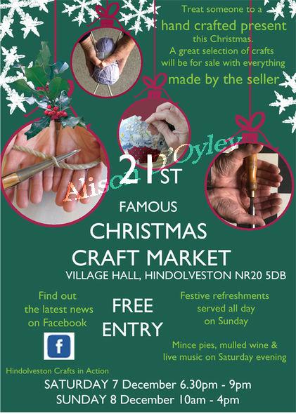Hindolveston Crafts in Action 21st Christmas Market