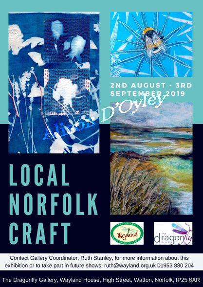 Local Norfolk Craft Exhibition at Dragonfly Gallery, Watton