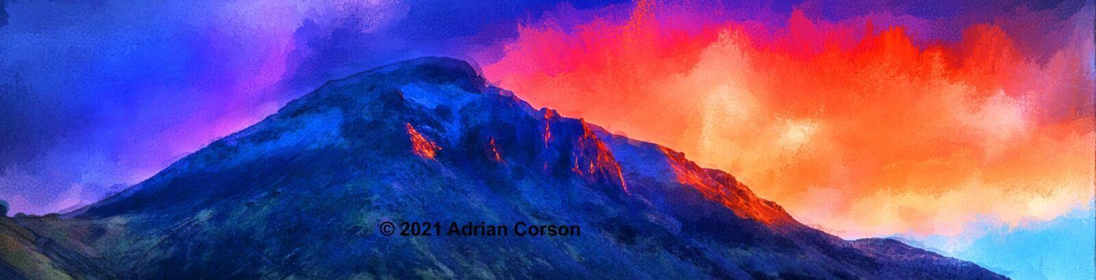 125-mountain peak sunrise